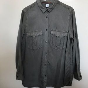 Women's H&M Olive Green Button Down Size 12